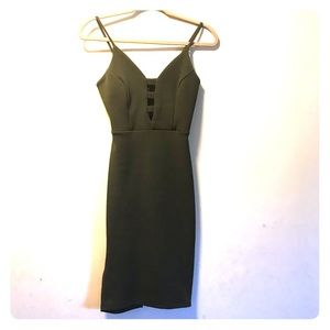Olive green dress by Privy Size Small